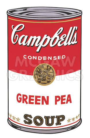 Andy Warhol - Campbell's Soup I:  Green Pea, 1968