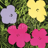 Flowers, 1970 (1 purple, 1 yellow, 2 pink) -  Andy Warhol - McGaw Graphics
