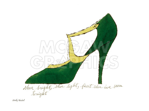 Andy Warhol - Shoe bright, shoe light, first shoe I've seen tonight (from: A La Recherche du Shoe Perdu by Andy Warhol Shoe Poems by Ralph Pomeroy), 1955