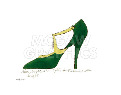 Shoe bright, shoe light, first shoe I've seen tonight (from: A La Recherche du Shoe Perdu by Andy Warhol Shoe Poems by Ralph Pomeroy), 1955 -  Andy Warhol - McGaw Graphics