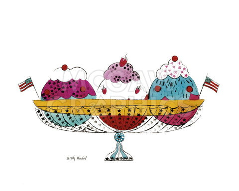 Ice Cream Dessert, c.1959 (3 scoop) -  Andy Warhol - McGaw Graphics