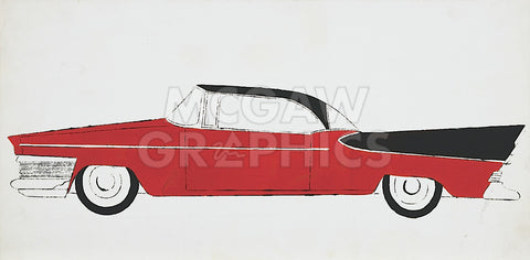 Car, c.1959 (red) -  Andy Warhol - McGaw Graphics
