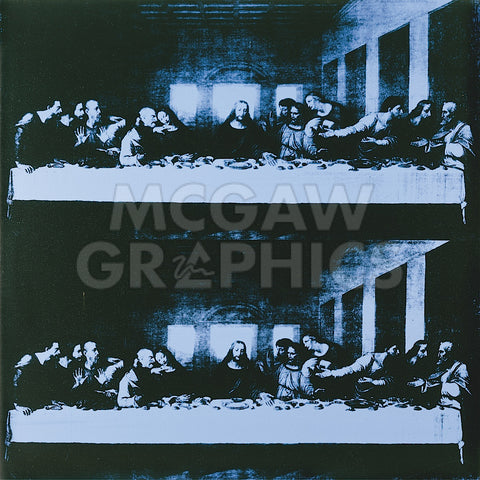 The Last Supper, 1986 (blue) -  Andy Warhol - McGaw Graphics
