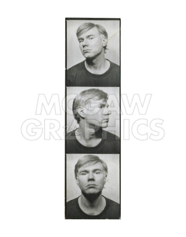 Self-Portrait, c. 1964 (photobooth pictures) -  Andy Warhol - McGaw Graphics