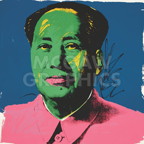 Mao, 1972 (Green) -  Andy Warhol - McGaw Graphics
