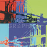 Brooklyn Bridge, 1983 (orange, blue, lime) -  Andy Warhol - McGaw Graphics