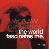 The world fascinates me -  Andy Warhol - McGaw Graphics