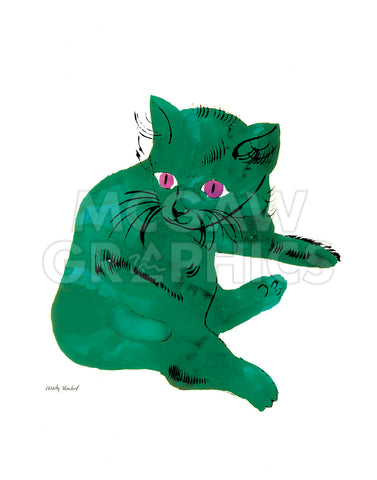 "Cat From ""25 Cats Named Sam and One Blue Pussy"", c. 1954  (Green Cat)"