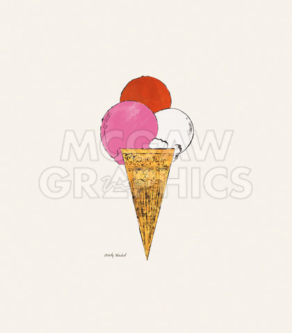 Ice Cream Dessert, c. 1959 (red, pink, and white) -  Andy Warhol - McGaw Graphics