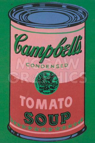 Colored Campbell's Soup Can, 1965 (red & green) -  Andy Warhol - McGaw Graphics