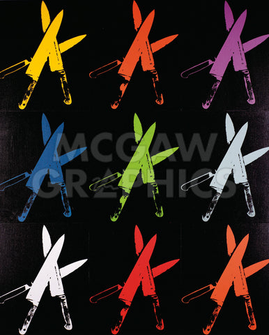 Knives, 1981-82 (multi) -  Andy Warhol - McGaw Graphics