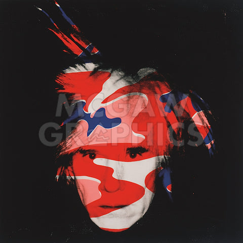 Self-Portrait, 1986 (red, white and blue camo) -  Andy Warhol - McGaw Graphics