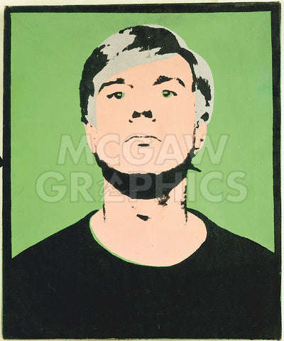 Self-Portrait, 1964 (on green) -  Andy Warhol - McGaw Graphics