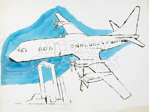 Andy Warhol - Airplane, c. 1959
