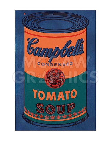 Colored Campbell's Soup Can, 1965 (blue & orange) -  Andy Warhol - McGaw Graphics