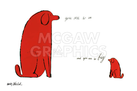 You Are So Little And You Are So Big, c. 1958 -  Andy Warhol - McGaw Graphics