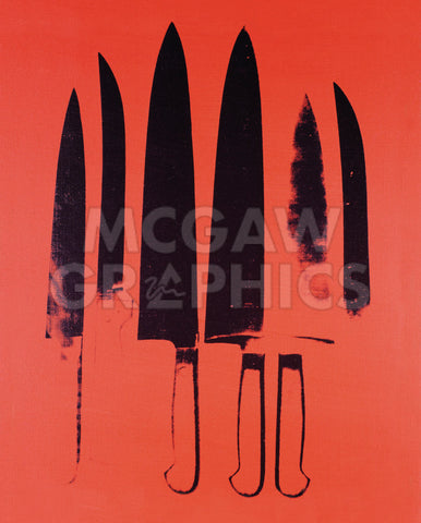 Knives, c. 1981-82 (Red) -  Andy Warhol - McGaw Graphics