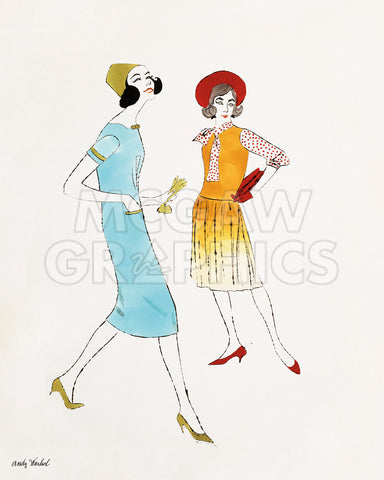 Untitled (Two Female Fashion Figures), c. 1960 -  Andy Warhol - McGaw Graphics