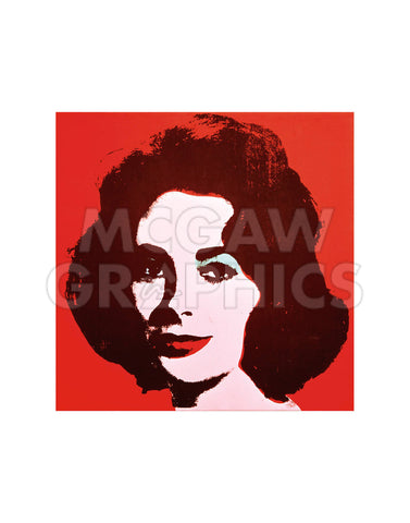 Liz, 1963 (red) -  Andy Warhol - McGaw Graphics