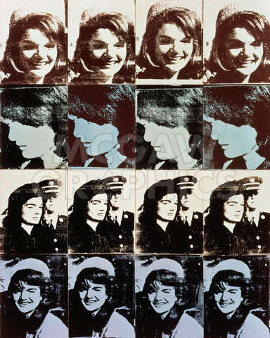 Sixteen Jackies, 1964 -  Andy Warhol - McGaw Graphics