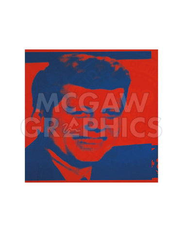 Flash-November 22, 1963, 1968 (red & blue) -  Andy Warhol - McGaw Graphics