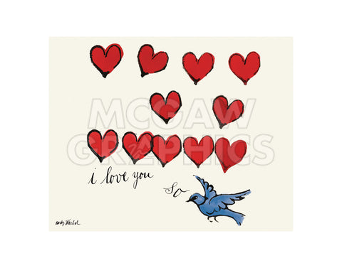 I Love You So, c. 1958 -  Andy Warhol - McGaw Graphics