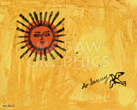 So Sunny, c. 1958 -  Andy Warhol - McGaw Graphics