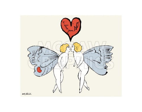 I Love You So, c. 1958 (angel) -  Andy Warhol - McGaw Graphics
