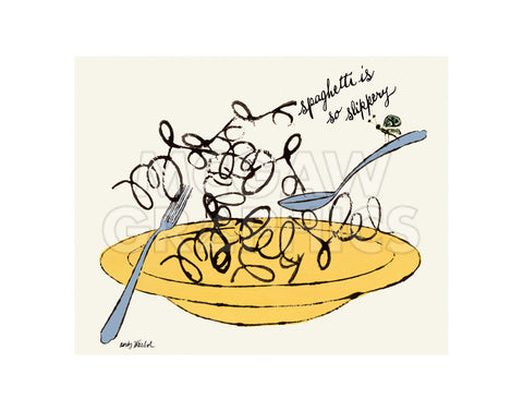 Spaghetti is So Slippery, c. 1958 -  Andy Warhol - McGaw Graphics