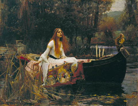 J.W. Waterhouse - The Lady of Shalott, 1888