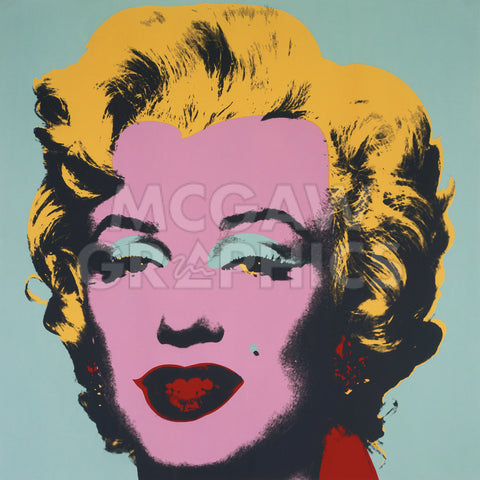 Marilyn, 1967 (on blue ground) -  Andy Warhol - McGaw Graphics