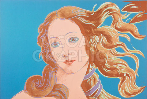 Details of Renaissance Paintings (Sandro Botticelli, Birth of Venus, 1482), 1984 (blue) -  Andy Warhol - McGaw Graphics