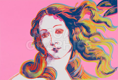 Details of Renaissance Paintings (Sandro Botticelli, Birth of Venus, 1482), 1984 (pink) -  Andy Warhol - McGaw Graphics