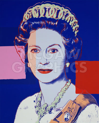 Reigning Queens: Queen Elizabeth II of the United Kingdom, 1985 (blue) -  Andy Warhol - McGaw Graphics