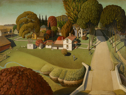 The Birthplace of Herbert Hoover, West Branch, Iowa, 1931 -  Grant Wood - McGaw Graphics