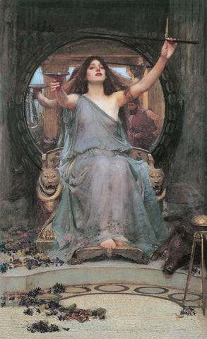Circe Offering the Cup to Odusseus -  J.W. Waterhouse - McGaw Graphics
