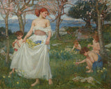 A Song of Springtime -  J.W. Waterhouse - McGaw Graphics