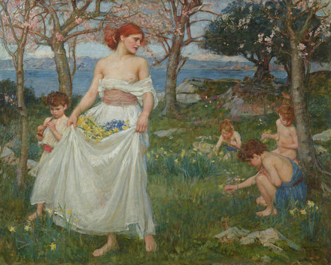 J.W. Waterhouse - A Song of Springtime