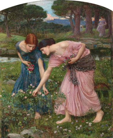 Gather Ye Rosebuds -  J.W. Waterhouse - McGaw Graphics