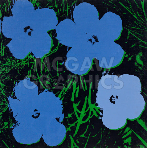 Andy Warhol - Flowers, 1964 (blue & green)