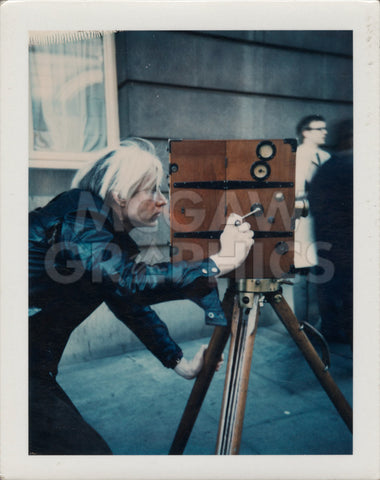 Andy Warhol - Andy Warhol with Vintage 1907 Camera, 1971