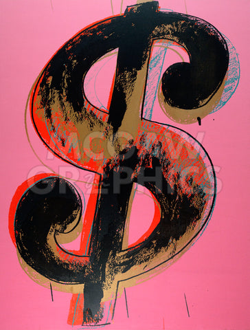 Andy Warhol - Dollar Sign, 1981 (pink)