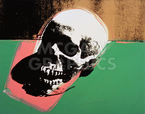 Andy Warhol - Skull, 1976 (green and pink)