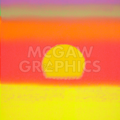 Sunset, 1972 (yellow, coral, orange, purple) -  Andy Warhol - McGaw Graphics