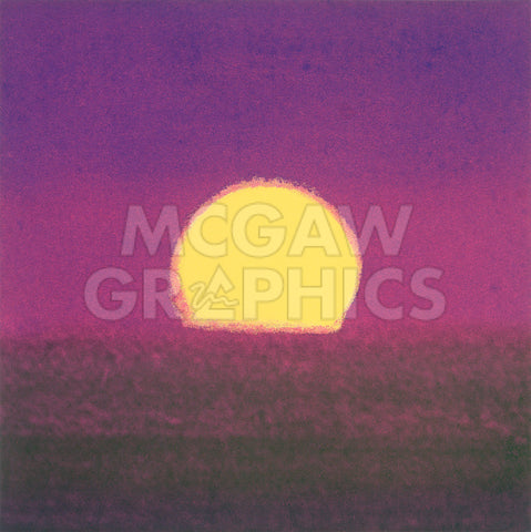 Sunset, 1972 (purple) -  Andy Warhol - McGaw Graphics