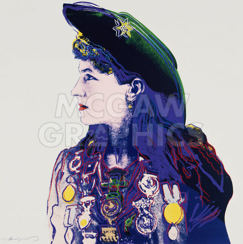 Andy Warhol - Cowboys and Indians: Annie Oakley, 1986