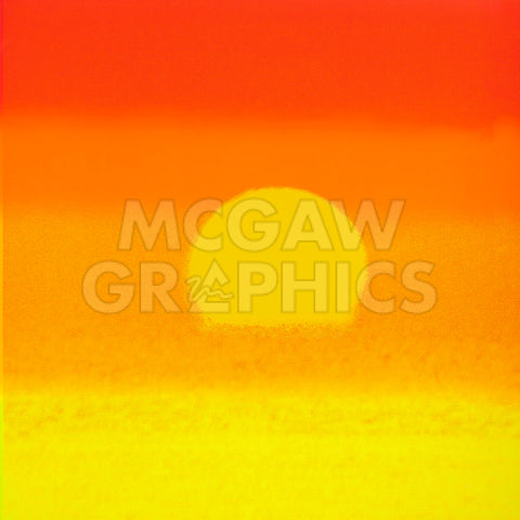 Sunset, 1972 (orange & yellow) -  Andy Warhol - McGaw Graphics