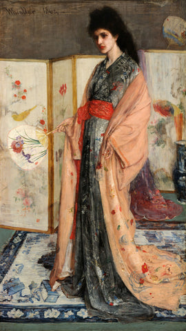 James Abbott McNeill Whistler - The Princess from the Land of Porcelain, from 1863 until 1965