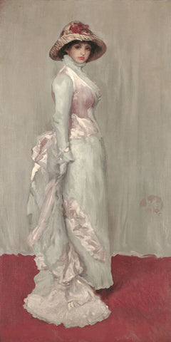 James Abbott McNeill Whistler - Harmony in Pink and Gray: Lady Meux, 1881