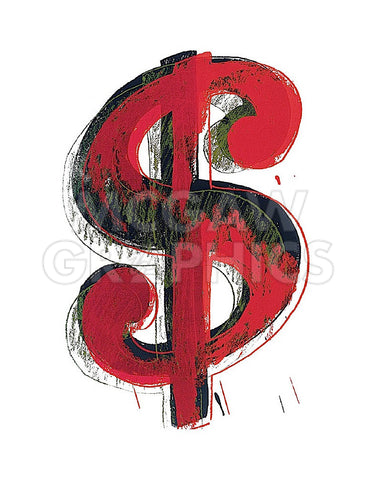 Dollar Sign, 1981 (red) -  Andy Warhol - McGaw Graphics